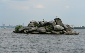 Picture lake, yachts, Island, stone, of Patos
