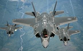 Wallpaper weapons, aircraft, F-35A Lightning