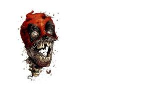 Picture void, death, skull, teeth, hood, worms, flies, ashes, orbit