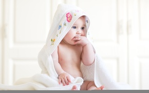 Picture baby, cute, blanket
