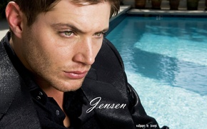 Picture water, black, pool, male, ackles, jensen, ackles, Jensen