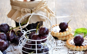 Picture grapes, cake, jam, sweet