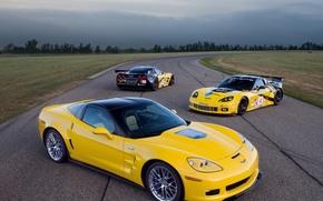 Wallpaper Chevrolet, track, Corvette