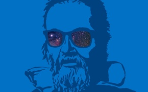 Picture blue, background, Intel, Galileo
