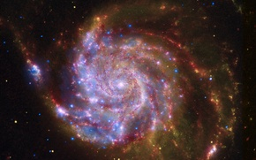 Picture space, galaxy, slink, light in the darkness, red galaxy