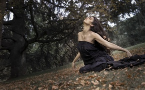 Picture autumn, Model, Rebeca Cignus
