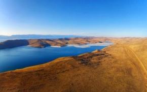 Picture sea, island, Baikal, ferry, Olkhon, Irkutsk