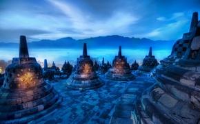 Wallpaper blue, fog, India