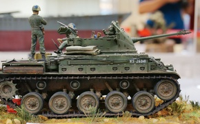 """Picture toy, self-propelled unit, model, anti-aircraft, M42 """"Duster"""""""