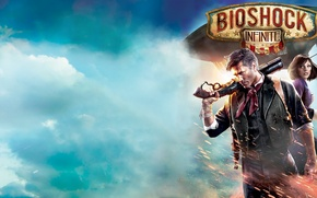 Picture The sky, Clouds, Fire, Weapons, BioShock, Colombia, 2K Games, Irrational Games, BioShock Infinite, Elizabeth, Booker …