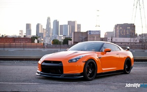 Picture city, nissan, gtr, ornge