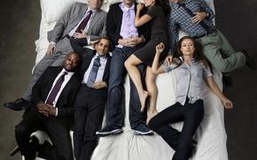 Wallpaper Olivia Wilde, Dr. house, house m.d., Hugh Laurie, Peter Jacobson, Robert Sean Leonard, Lisa Edelstein, ...