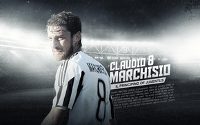 Picture wallpaper, sport, stadium, football, player, Juventus FC, Juventus Stadium, Claudio Marchisio