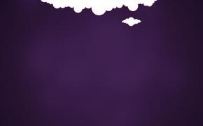 Picture purple, clouds, background, minimalism