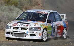 Picture Auto, White, Sport, Machine, Mitsubishi, Lancer, Rally, Rally