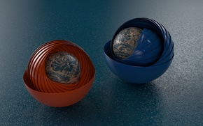 Picture background, balls, patterns, layers, sphere