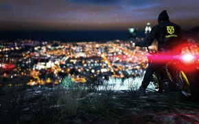 Picture The city, Grass, Motorcycle, GTA V, grand theft auto v