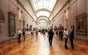 Picture art, people, Louvre, Museum
