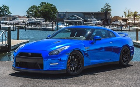 Picture GTR, Nissan, Blue, Forged, Chrome, Incurve