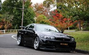 Picture GTR, Nissan, black, Skyline, BNR34, v Spec II NUR1