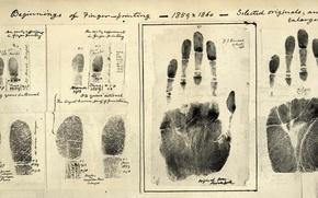 Wallpaper prints, First, fingers