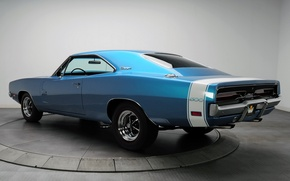 Picture background, Muscle car, Muscle car, 500, rear view.blue, Hemi, Charger, The charger, Dodge, Dodge, 1969