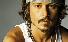 Wallpaper actor, johnny depp, bandana