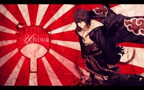 Picture Wallpaper, anime, cloak, Sasuke, akatsuki