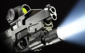 Picture light, gun, weapons, ray, flashlight, Glock