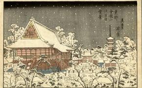 Wallpaper Japan, Keisai Iron, snow, art, winter