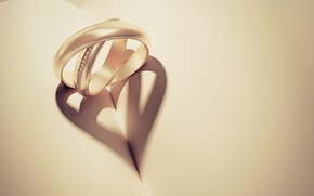 Picture love, paper, background, Wallpaper, mood, heart, shadow, ring, ring, hearts, book, form, widescreen, ring, full …