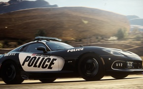 Picture Dodge, Police, Need for Speed, nfs, 2013, Rivals, NFSR, NSF, Viper SRT GTS
