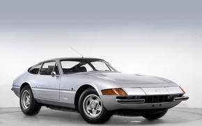 Picture Retro, Ferrari, Car, GTB, 365, Silver, 1971-73, Daytona Pininfarina