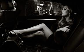 Picture chair, car, sitting, Laura Vandervoort