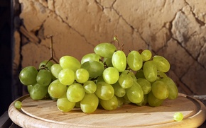 Picture grapes, green, food