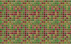 Picture mosaic, background, wall, tile, squares, grille, texture, raznotsvet