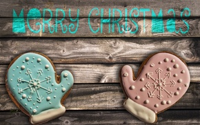 Picture table, cookies, merry christmas, glaze