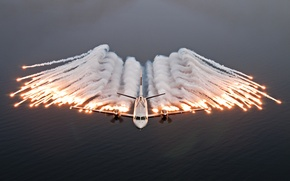 Picture sea, flight, The plane, Can 2000 AEW35