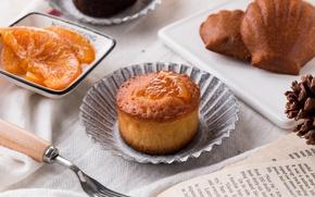 Picture dessert, cakes, jam, cupcake, Madeleine