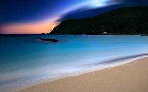 Picture sea, nature, dawn, coast, Norway, Bremanger