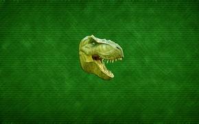 Picture green, dinosaur, predator, teeth, head, mouth