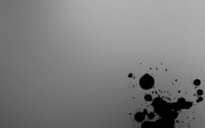 Wallpaper blot, black, Wallpaper, drops