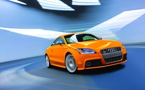 Wallpaper orange, Audi, speed, TT-S