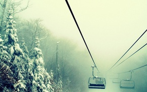 Picture winter, forest, nature, fog, up, the snow, wallpapers, Wake up, lift