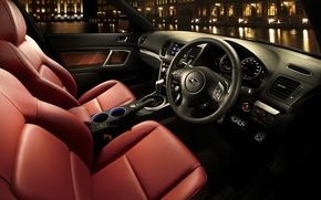 Wallpaper sedan, torpedo, leather, Legacy, salon, night, center console, nabeina, Subaru