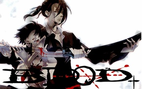 Picture sword, hatred, Blood+, blood, evil eye, Hagi, Saya Otonashi