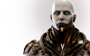 Wallpaper look, bald, Vienna, male, fighter, cyborg, tube, Epic Games, Unreal Tournament