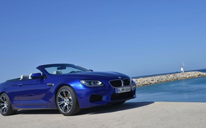 Picture sea, lighthouse, BMW, convertible, Convertible, M6