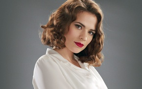 Picture retro, actress, brunette, The first avenger, Hayley Atwell, Hayley Atwell, Captain America: The First Avenger, …