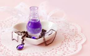 Picture purple, style, background, Wallpaper, stone, liquid, necklace, decoration, lace, chain, wallpapers, napkin, accessory, elixir
